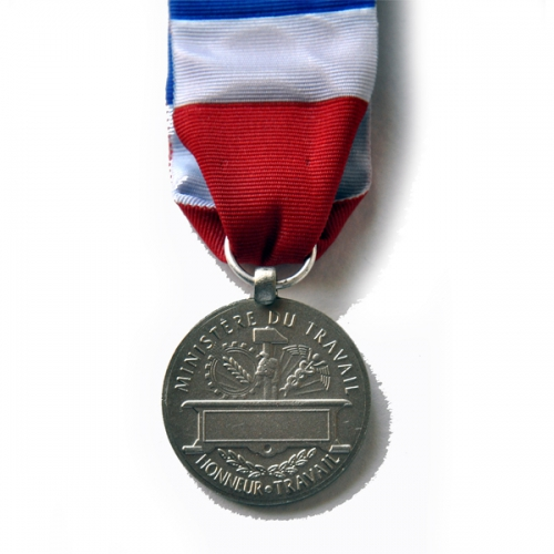 MEDAILLE DU TRAVAIL 20 ANS - qualité bronze argenté 3