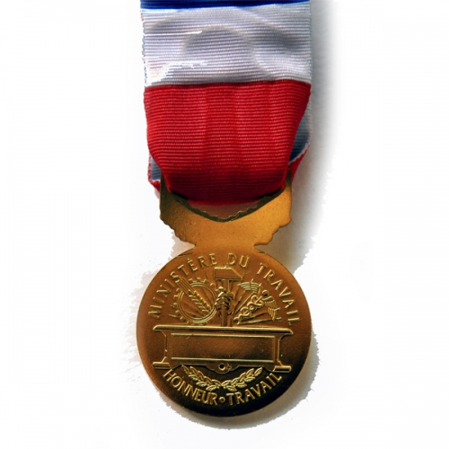 MEDAILLE DU TRAVAIL 40 ANS - bronze doré 3