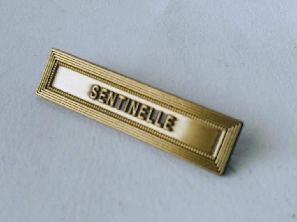AGRAFE SENTINELLE pour médaille protection militaire