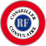 COCARDE CONSEILLER CONSULAIRE adhésive 70mm