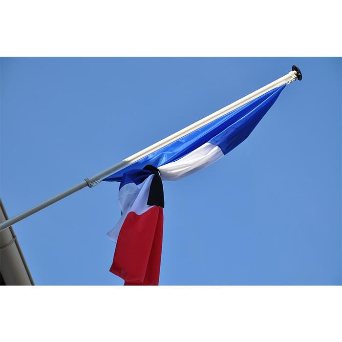 RUBAN DE MISE EN BERNE NOIR pour drapeau deuil