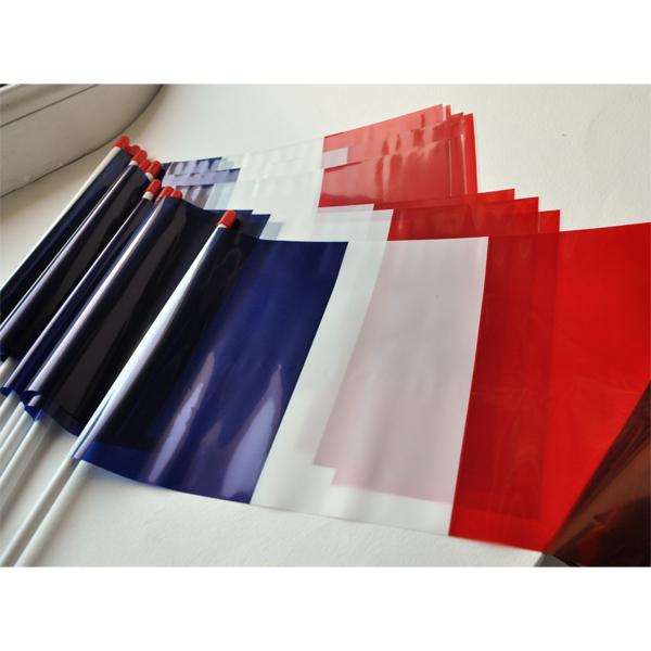 DRAPEAUX FRANCE PLASTIQUE  lot de 10 - 20X30cm