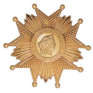 LEGION D HONNEUR GRAND CROIX - plaque VERMEIL argent doré