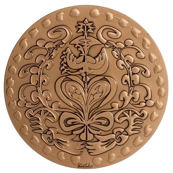 MEDAILLE DU MARIAGE bronze - C. LACROIX 72mm