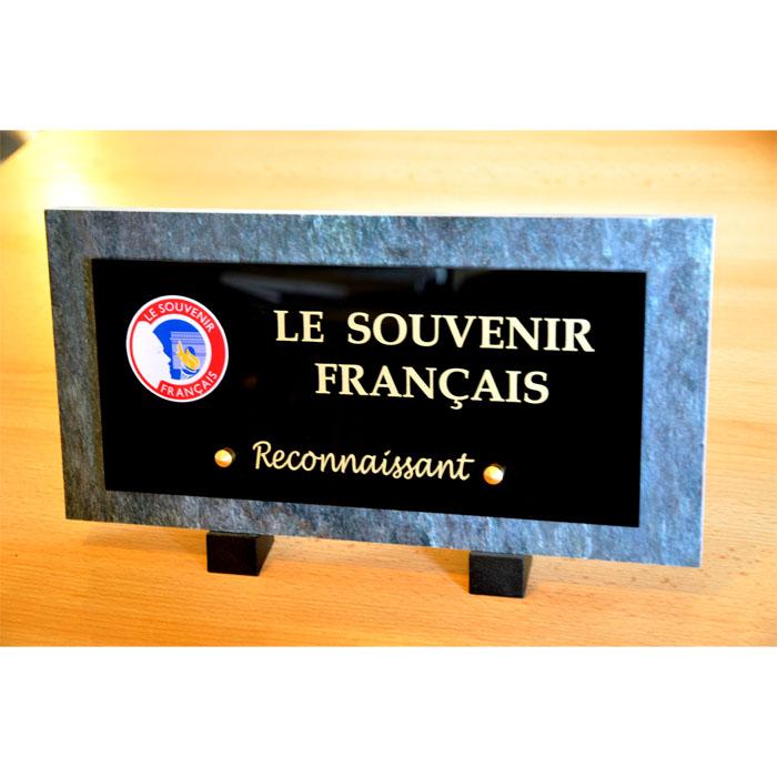 PLAQUE FUNERAIRE DU SOUVENIR FRANCAIS