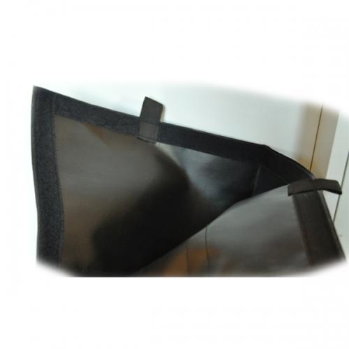 ETUI PORTE DRAPEAU MOLESKINE noir avec sangle de portage 2