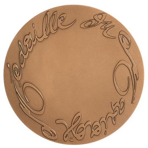 MEDAILLE DU MARIAGE bronze - C. LACROIX 72mm 2