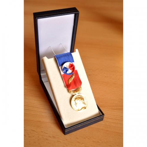 MEDAILLE DU TRAVAIL 35 ANS - qualité bronze doré 2
