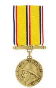 medaille des SAPEURS POMPIERS 10 ANS bronze