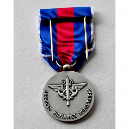 MEDAILLE SVM SERVICES MILITAIRES VOLONTAIRES argent 2