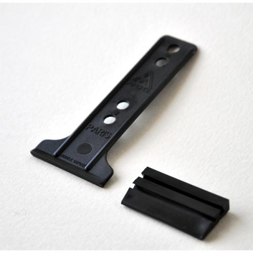 SUPPORT PVC A GLISSIERE avec patte de COCARDE 5