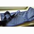 ETUI PORTE DRAPEAU polyester bleu marine avec bretelles