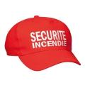 CASQUETTE SECURITE INCENDIE ROUGE