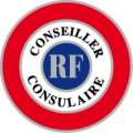 COCARDE CONSEILLER CONSULAIRE adhésive 70mm