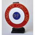 COCARDE CONSEILLER CONSULAIRE- metal - fixation tableau de bord