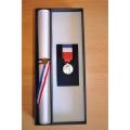 COFFRET DE PRESENTATION pour diplome et médaille (non inclus)