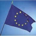DRAPEAU EUROPE avec hampe bois