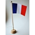 DRAPEAU FRANCE AVEC SON SUPPORT BOIS 32CM