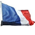 DRAPEAU FRANCE finition pavillon sangle et 2 anneaux