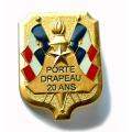 INSIGNE PORTE DRAPEAU 20 ans