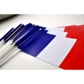 LOT DE 25 DRAPEAUX PAPIER FRANCE 12X24CM