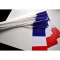 LOT DE 25 DRAPEAUX PAPIER FRANCE 12X24CM