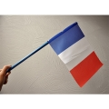 LOT DE 400 DRAPEAUX FRANCE POUR TOMBES - tissu 20x30cm