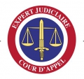 cocarde expert judiciaire adhesive 60mm