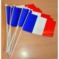 DRAPEAUX FRANCE PLASTIQUE lot de 100 - 10x16cm