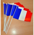 DRAPEAUX FRANCE PAPIER lot de 100 - 10x16cm