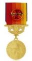 médaille des SAPEURS POMPIERS SERVICES EXCEPTIONNELS VERMEIL